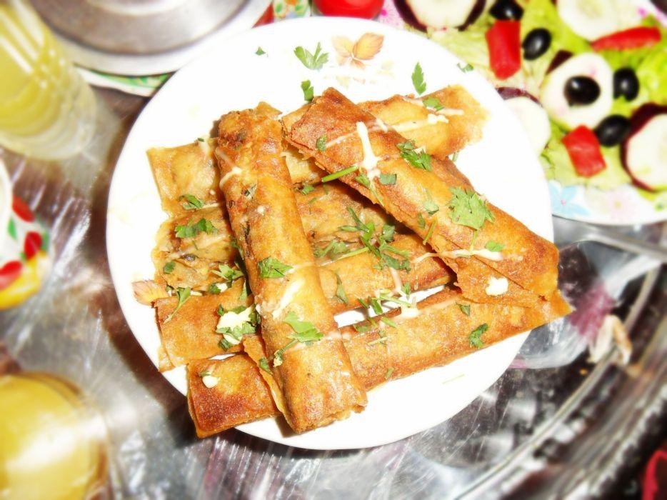 food meal dinner boureks ramadan traditions algeria africa family life wallpaper