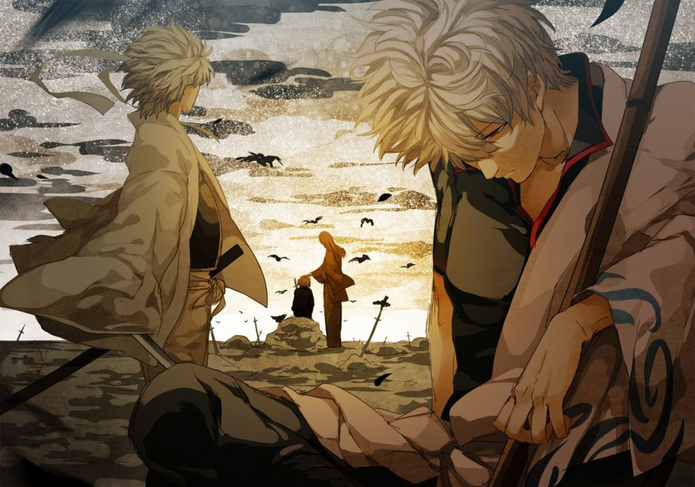 anime series gintama samurai sword wallpaper