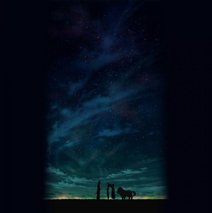 anime scan sky stars wallpaper