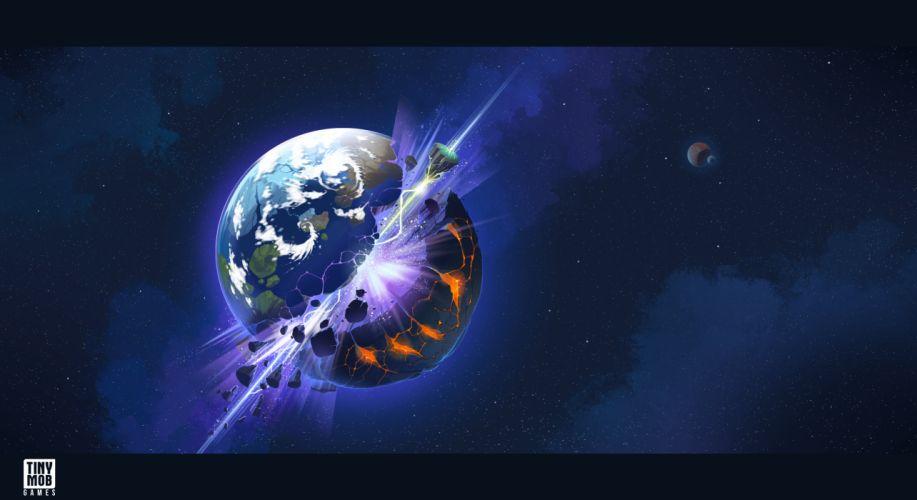 KINGDOM Of AELGARD fantasy action fighting adventure quest 1koa magic strategy rts space apocalyptic planet explosion wallpaper