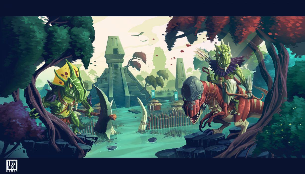 KINGDOM Of AELGARD fantasy action fighting adventure quest 1koa magic strategy rts warrior dragon wallpaper