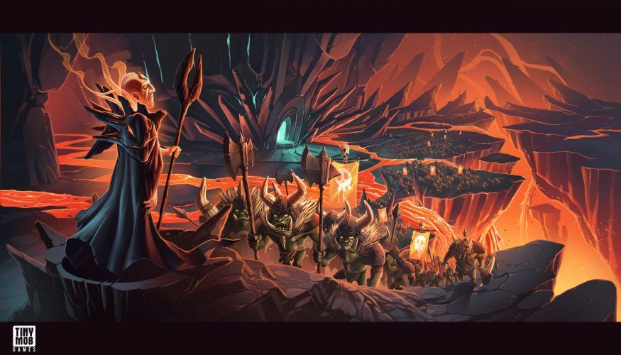 KINGDOM Of AELGARD fantasy action fighting adventure quest 1koa magic strategy rts warrior magician wizard sorcerer wallpaper