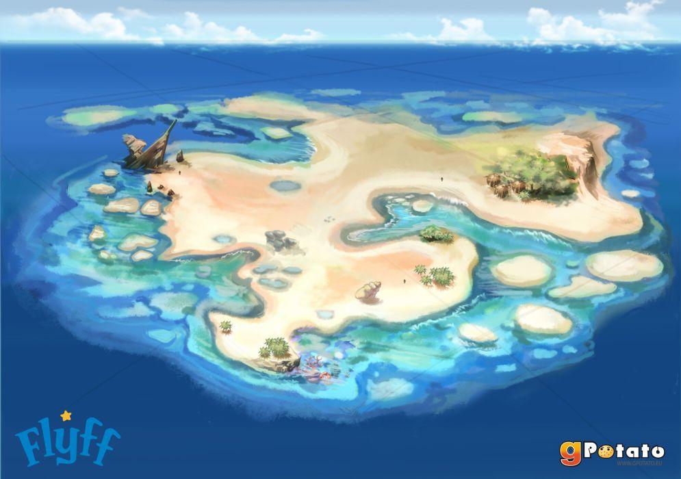 FLYFF anime mmo rpg manga fantasy action fighting adventure online 1flyff island wallpaper