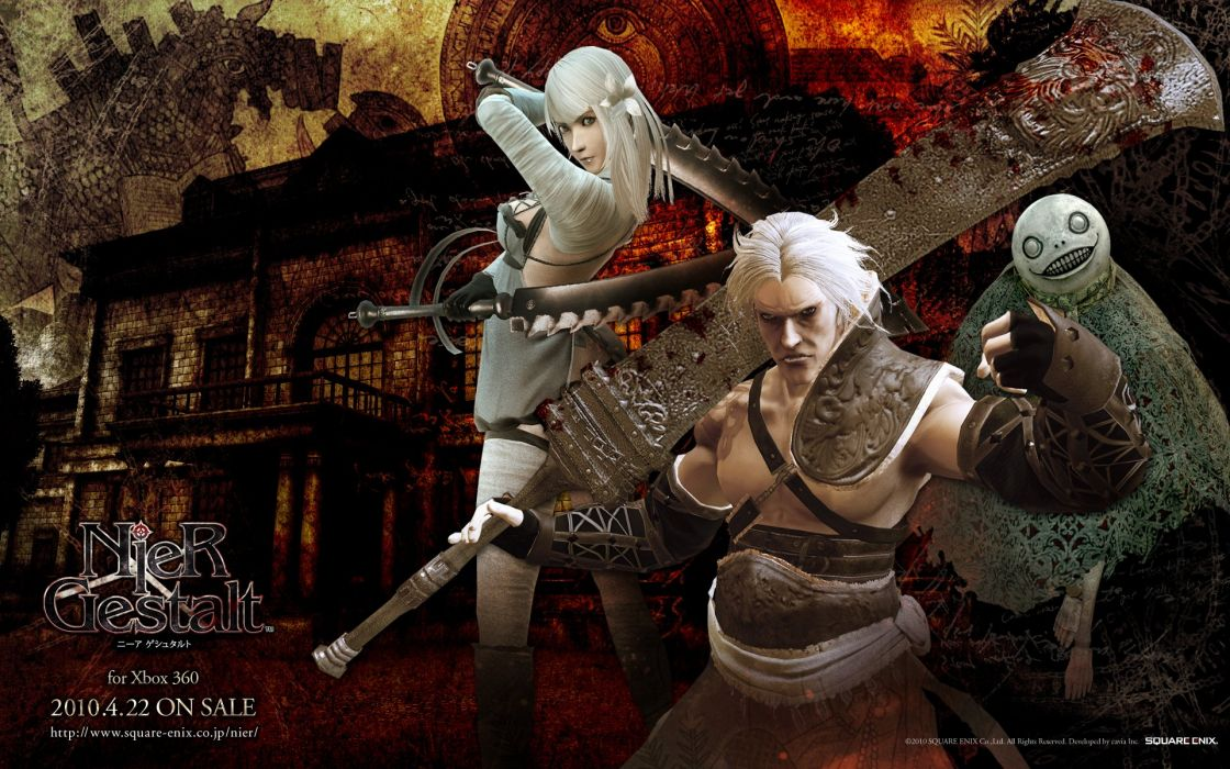 NIER action rpg fighting adventure drakengard fantasy 1nier wallpaper