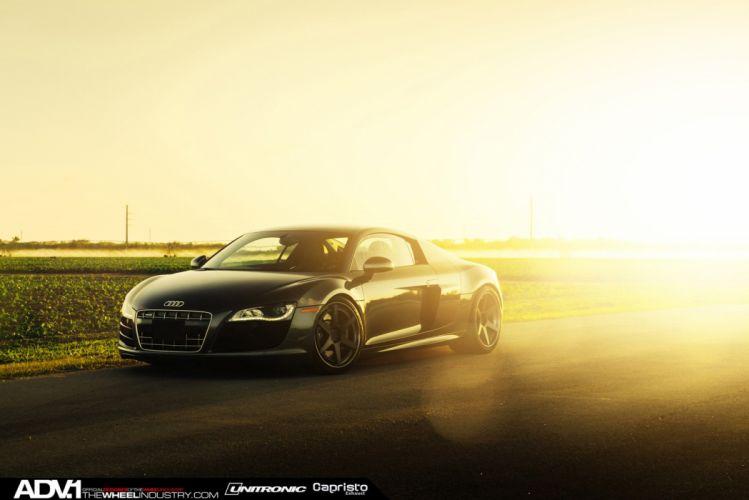 ADV1 WHEELS tuning coupe cars audi r 8 black wallpaper