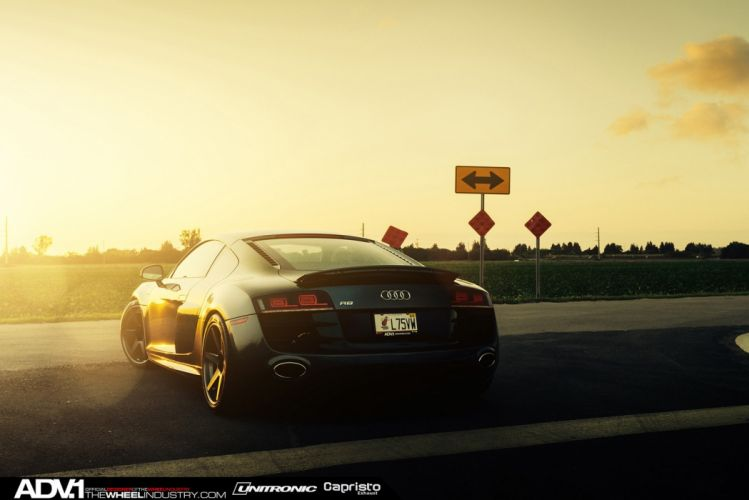 ADV1 WHEELS tuning coupe cars audi r 8 black wallpaper
