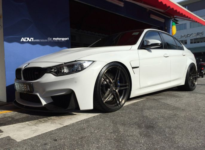 ADV1 WHEELS tuning sedan cars bmw f80 M 3 white wallpaper