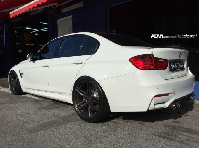 ADV1 WHEELS tuning sedan cars bmw f80 M 3 white wallpaper
