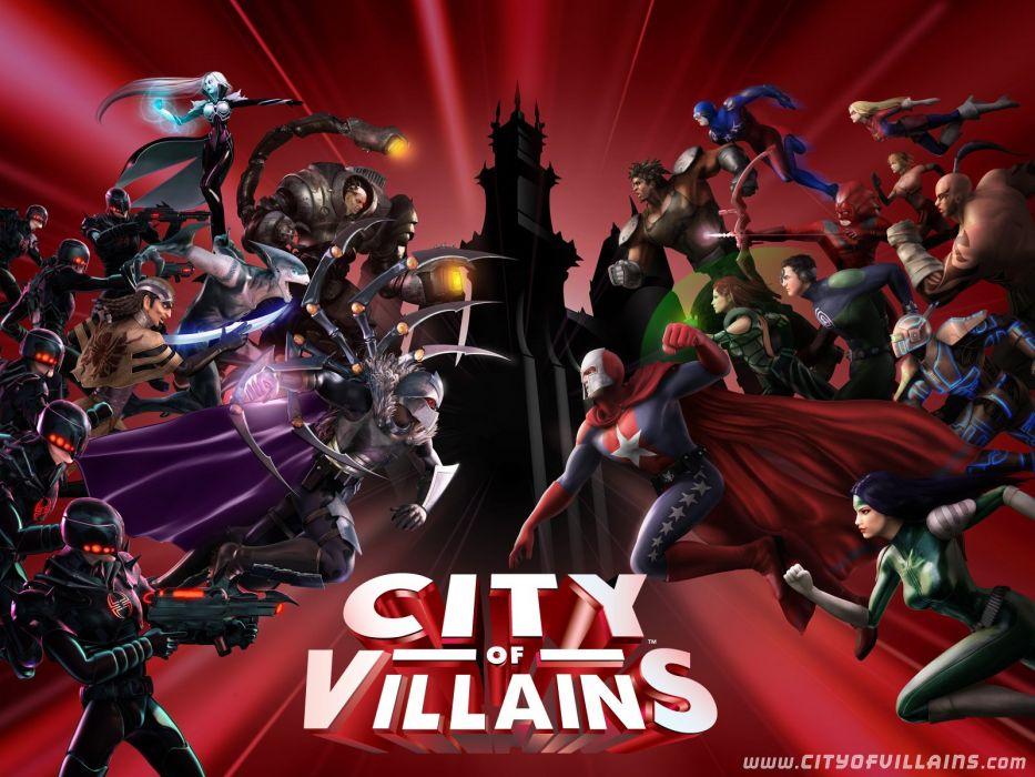 CITY Of HEROES villains fantasy action superhero hero mmo rpg online 1coh comics fighting wallpaper
