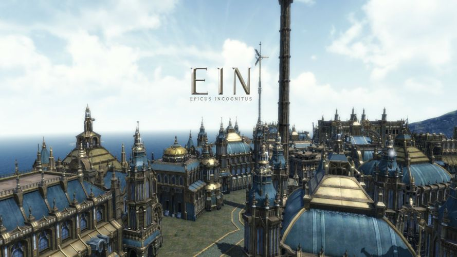 EIN Epicus Incognitus Online mmo rpg action fighting 1eei adventure sci-fi city cities castle poster wallpaper