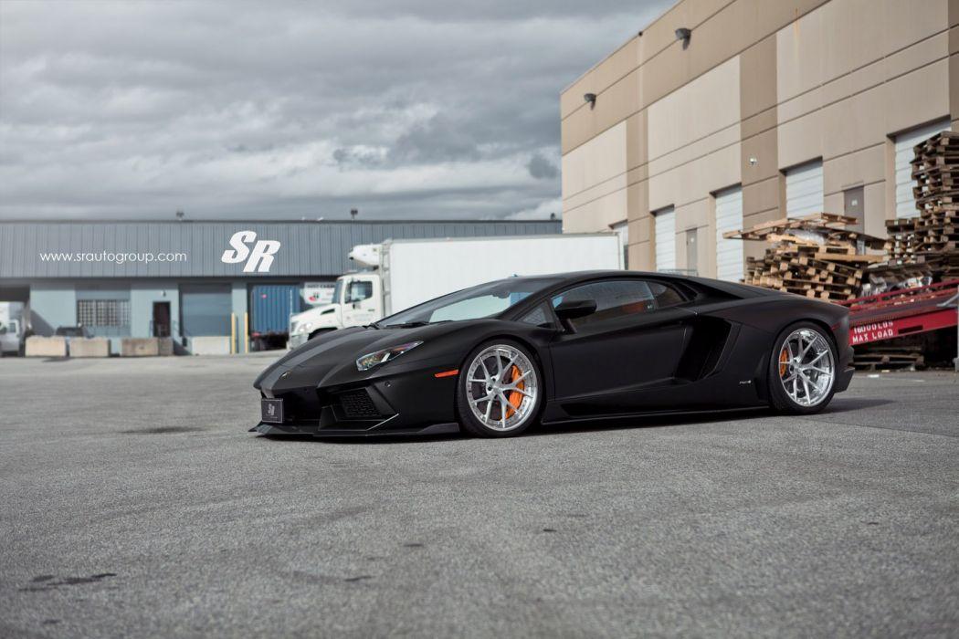 2015 PUR wheels tuning cars supercars Lamborghini Aventador black wallpaper