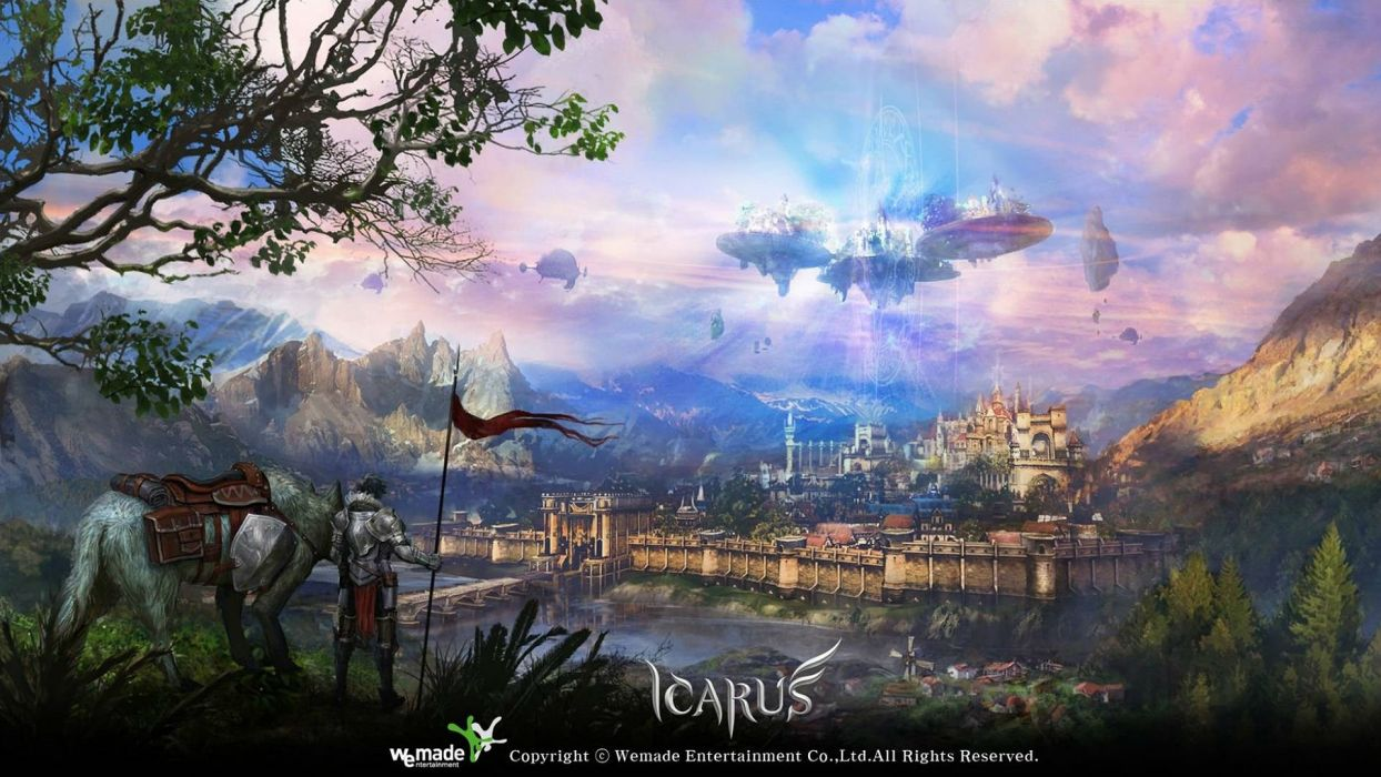 ICARUS ONLINE Guns fantasy mmo rpg steampunk shooter fps action fighting 1goi dieselpunk airship ship sci-fi warrior poster wallpaper