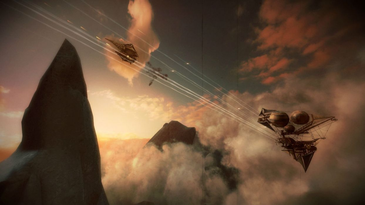 ICARUS ONLINE Guns fantasy mmo rpg steampunk shooter fps action fighting 1goi dieselpunk airship ship sci-fi wallpaper