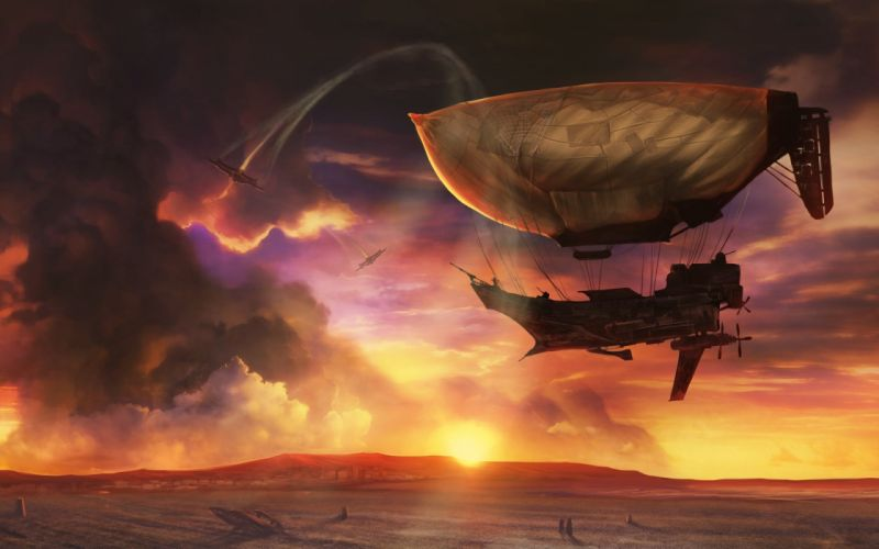 ICARUS ONLINE Guns fantasy mmo rpg steampunk shooter fps action fighting 1goi dieselpunk airship ship sci-fi wallpaper