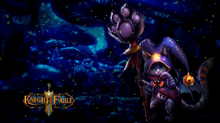 KNIGHTS FABLE fantasy mmo rpg online hero heroes King Arthur action adventure fighting poster wallpaper