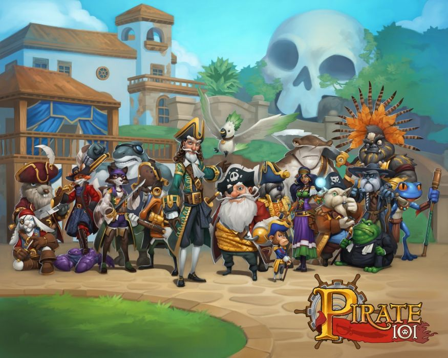 PIRATE 101 online adventure family pirates fantasy mmo rpg 1p101 airship wallpaper