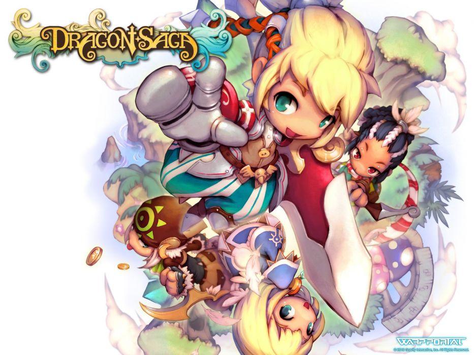 DRAGON SAGA Dragonica Online fantasy mmo rpg scrolling magic 1dso adventure action fighting anime poster wallpaper
