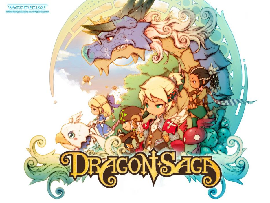 DRAGON SAGA Dragonica Online fantasy mmo rpg scrolling magic 1dso adventure action fighting anime poster wallpaper