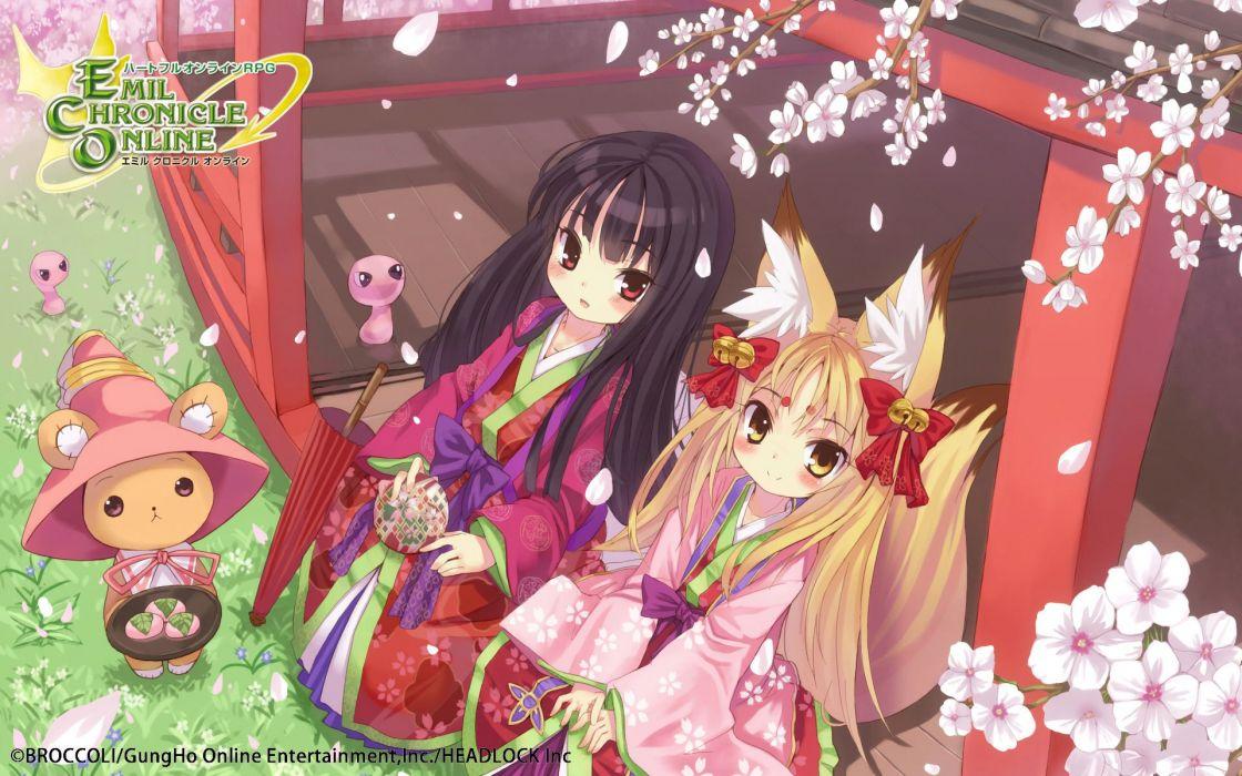 EMIL CHRONICLE Online mmo rpg fantasy 1eco adventure anime manga wallpaper