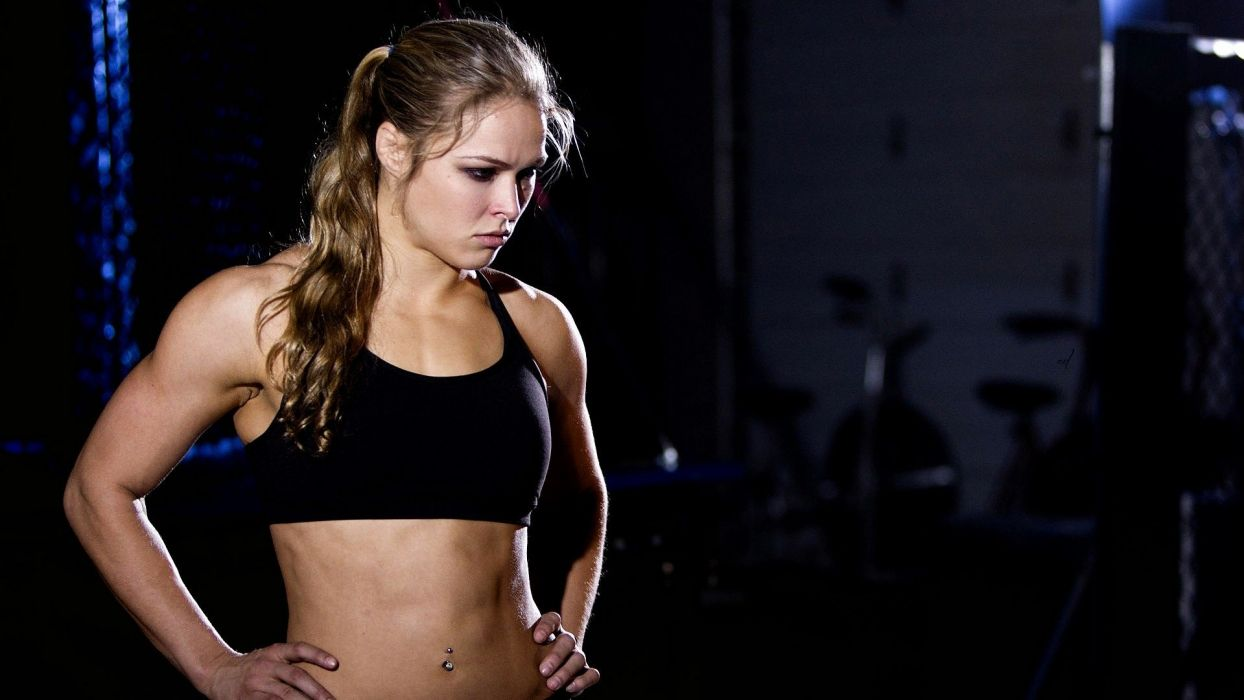 SPORTS - Ronda Rousey fighter champion mma ufc girl blonde piercing navel wallpaper