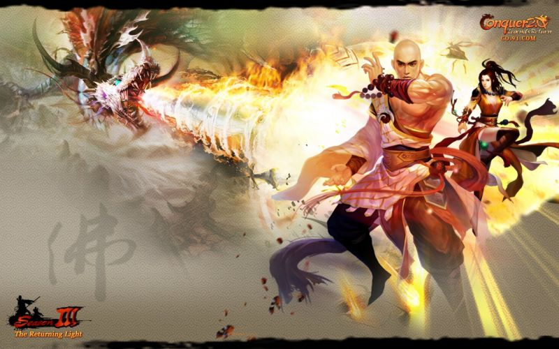 CONQUER ONLINE fantasy mmo rpg martial action fighting 1cono warrior poster wallpaper