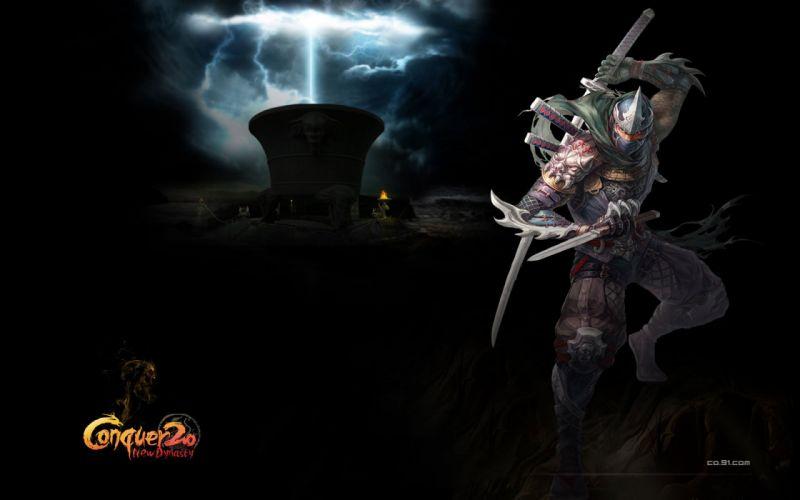 CONQUER ONLINE fantasy mmo rpg martial action fighting 1cono warrior poster ninja samurai wallpaper