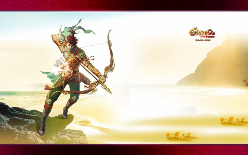 CONQUER ONLINE fantasy mmo rpg martial action fighting 1cono warrior poster archer wallpaper