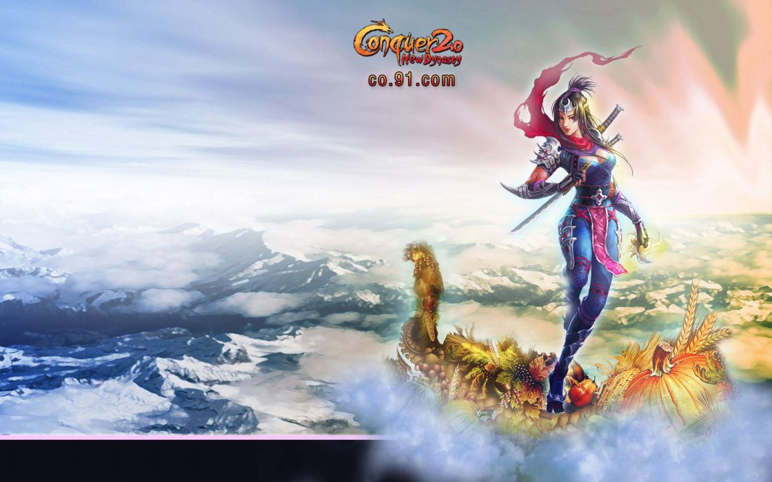 CONQUER ONLINE fantasy mmo rpg martial action fighting 1cono warrior poster thanksgiving holiday wallpaper