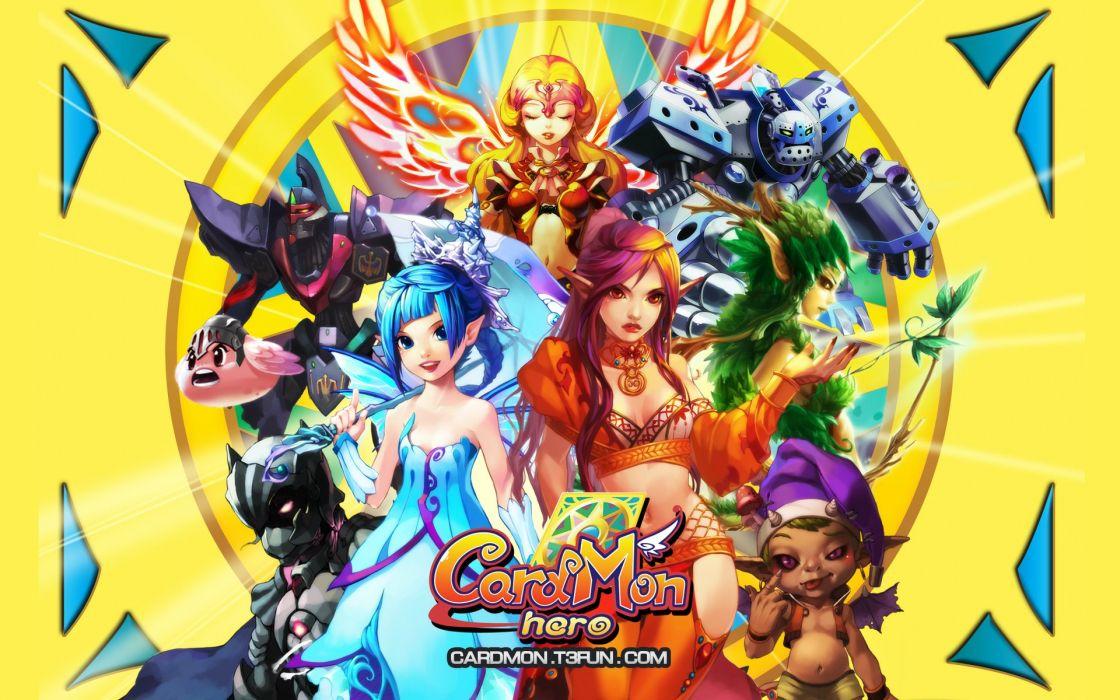 CARDMON HERO Online mmo rpg fantasy anime adventure fighting action poster angel wallpaper