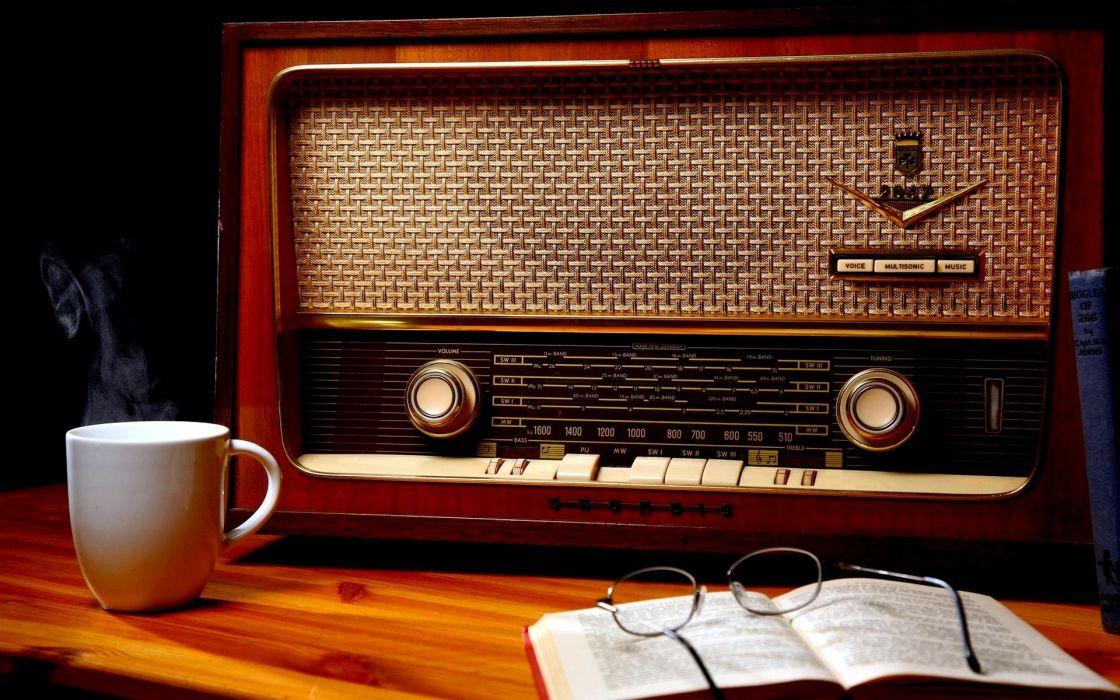 antigua radio taza cafe gafas listin wallpaper