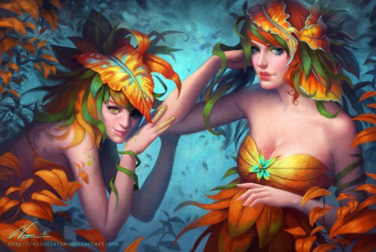 flower girls color beauty pretty fantasy wallpaper