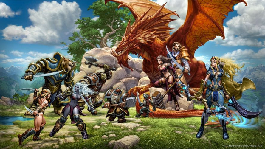 EVERQUEST NEXT fantasy mmo rpg action fighting online sandbox 1enext dragon wallpaper