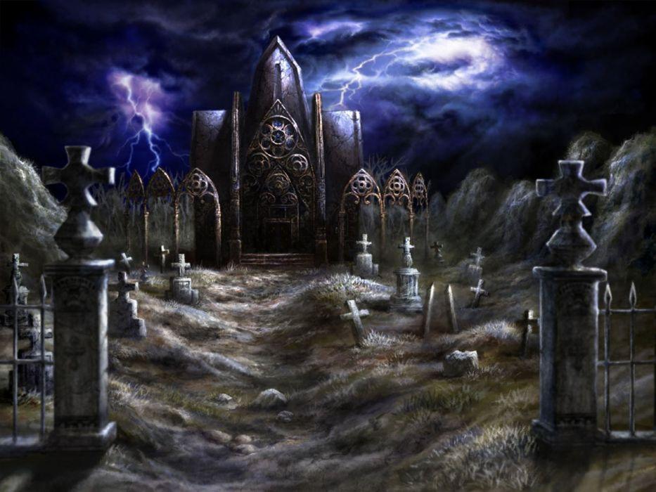 DEKARON ONLINE fantasy mmo rpg middle ages medieval 1dekao action fighting 2moons halloween dark horror cemetery grave graveyard wallpaper
