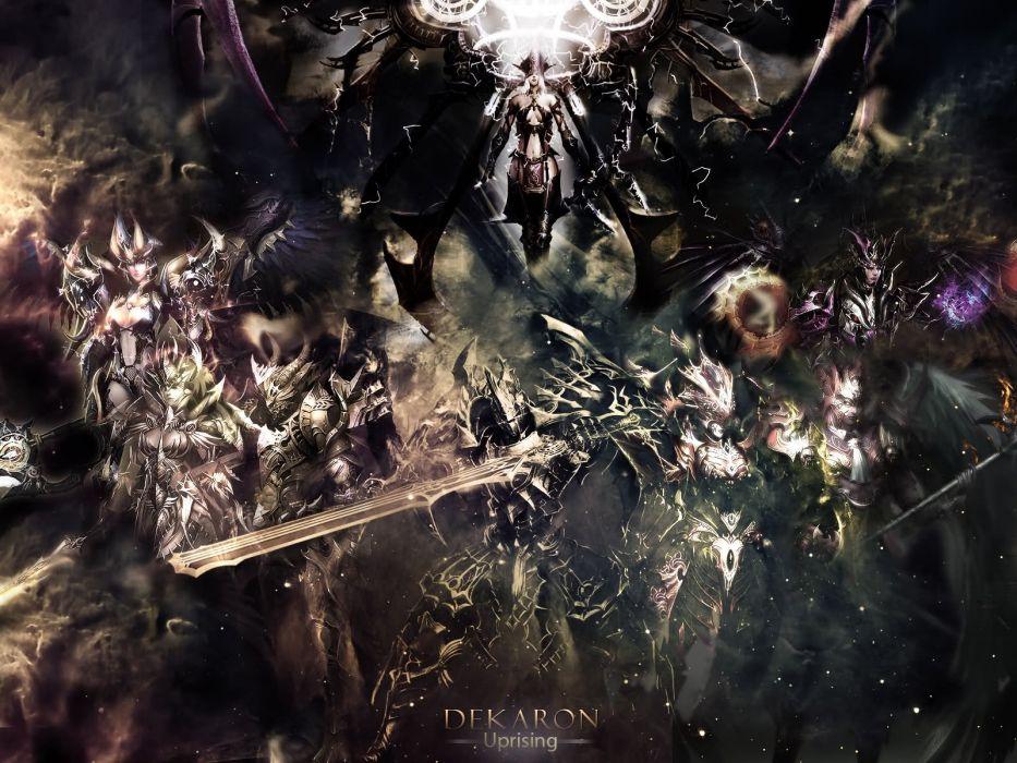 DEKARON ONLINE fantasy mmo rpg middle ages medieval 1dekao action fighting 2moons warrior battle wallpaper