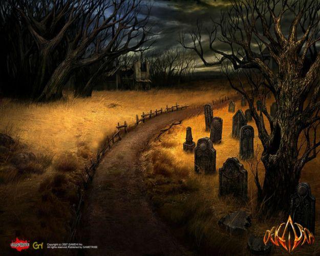 DEKARON ONLINE fantasy mmo rpg middle ages medieval 1dekao action fighting 2moons halloween dark graveyard grave cemetery wallpaper