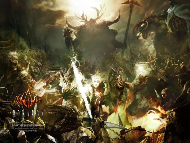 DEKARON ONLINE fantasy mmo rpg middle ages medieval 1dekao action fighting 2moons warrior poster battle wallpaper