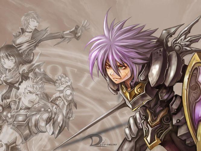 DECO ONLINE anime mmo rpg fantasy fighting action adventure 1decoo warrior wallpaper