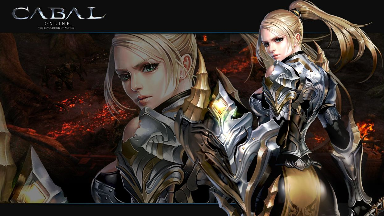 CABAL ONLINE fantasy mmo rpg action adventure fighting dungeon 1cabalo warrior poster wallpaper