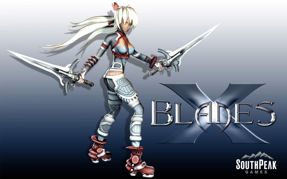 XBLADES anime action adventure fantasy hero heroes fighting warrior girl girls 1xblade poster wallpaper