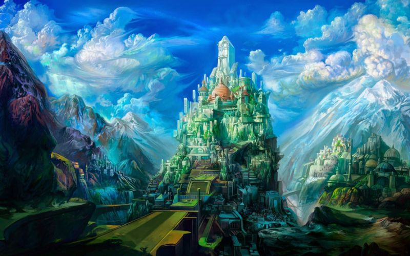 4STORY Gates of Andaron fantasy mmo rpg action adventure fighting online poster castle wallpaper