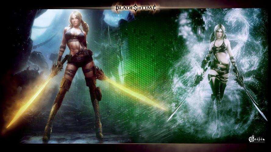 BLADES Of TIME fantasy action fighting girl warrior 1bot ayumi poster wallpaper