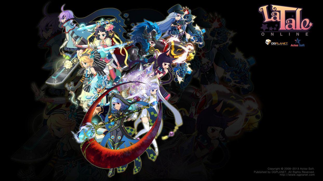 LaTALE Online anime fantasy scrolling adventure mmo rpg girls girl 1latale fighting mythologica warriorl wallpaper