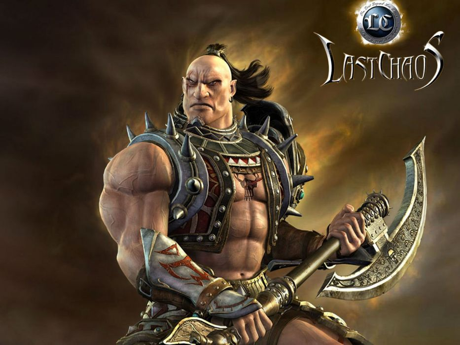 LAST CHAOS fantasy mmo rpg action fighting 1lchaos action warrior dungeon adventure online poster wallpaper