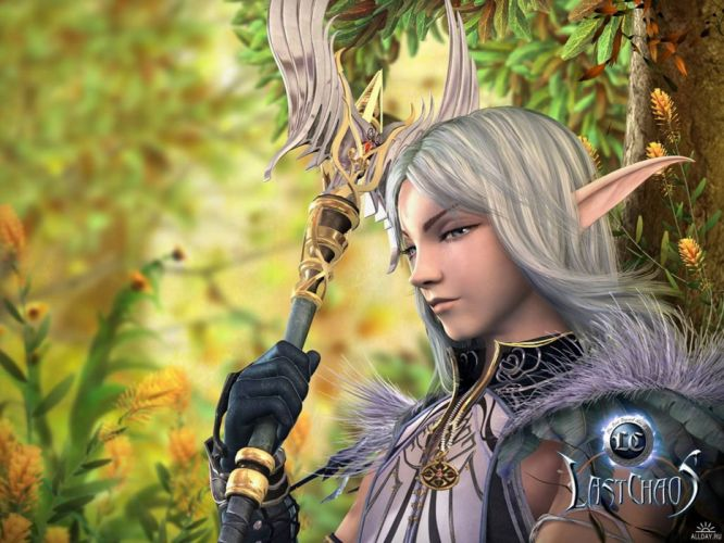 LAST CHAOS fantasy mmo rpg action fighting 1lchaos action warrior dungeon adventure online babe girl girls elf elves wallpaper