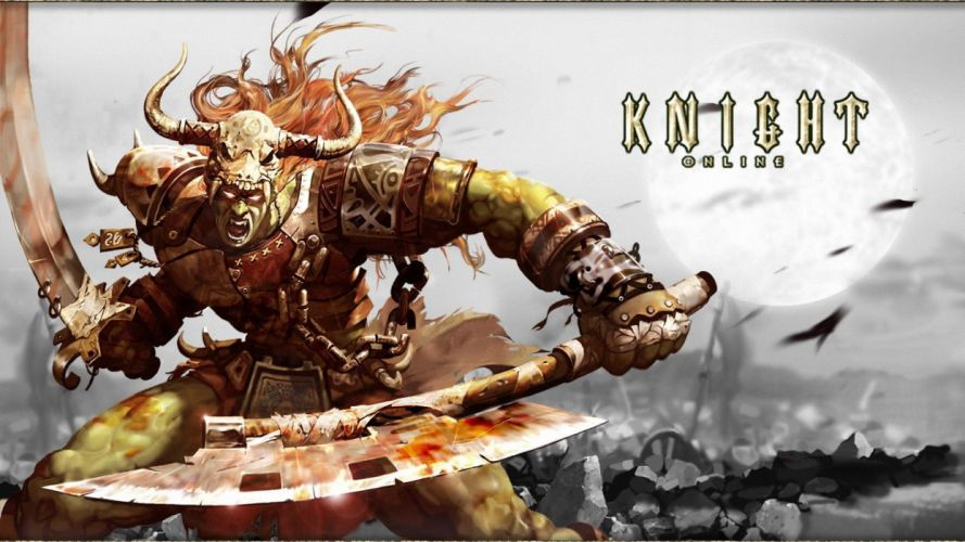 KNIGHT ONLINE fantasy mmo rpg action fighting adventure 1knight warrior armor poster wallpaper