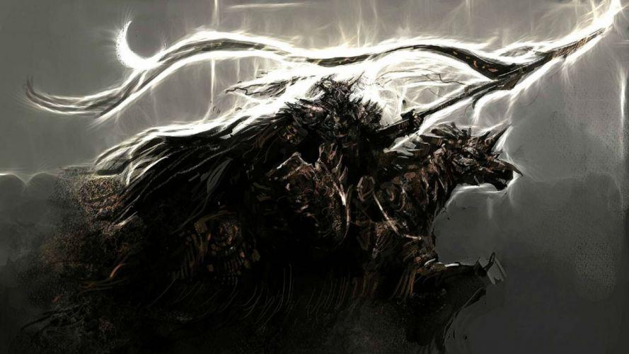 KNIGHT ONLINE fantasy mmo rpg action fighting adventure 1knight warrior armor wallpaper