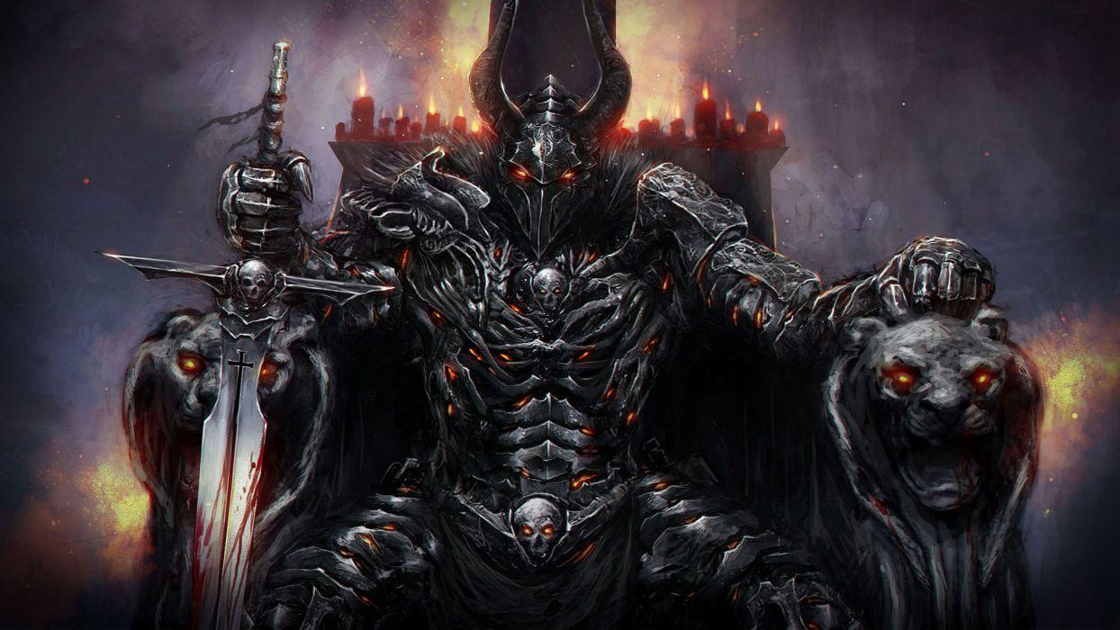KNIGHT ONLINE Fantasy Mmo Rpg Action Fighting Adventure 1knight Warrior Armor Poster Dark Wallpaper