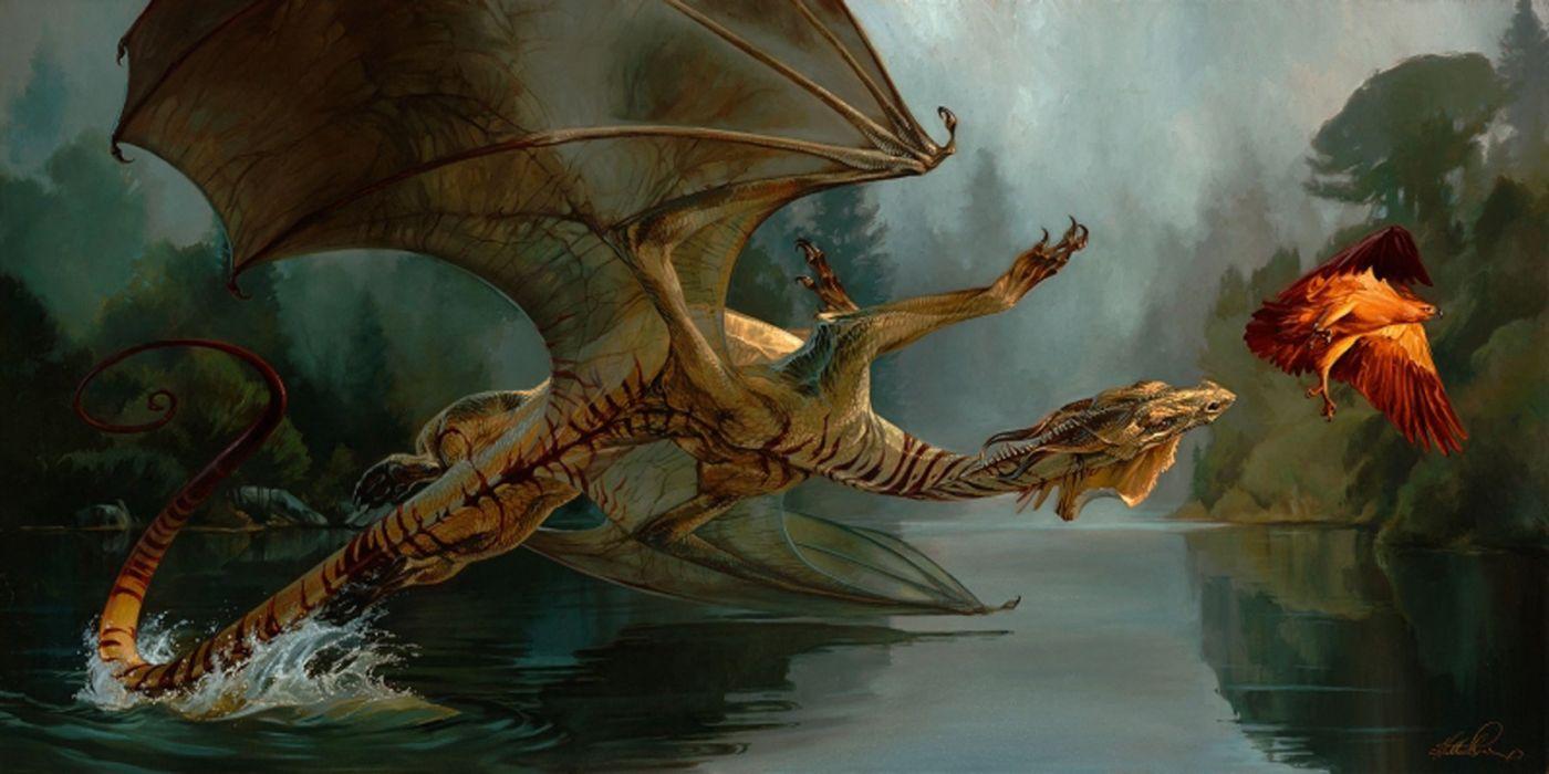 war dragon fantasy eagle water animal nature wallpaper