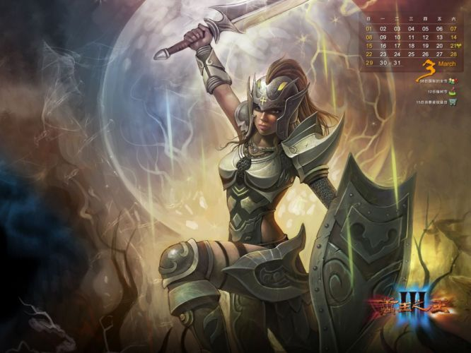 KING Of KINGS 3 fantasy mmo rpg action fighting online 1koks medieval warrior poster calendar wallpaper
