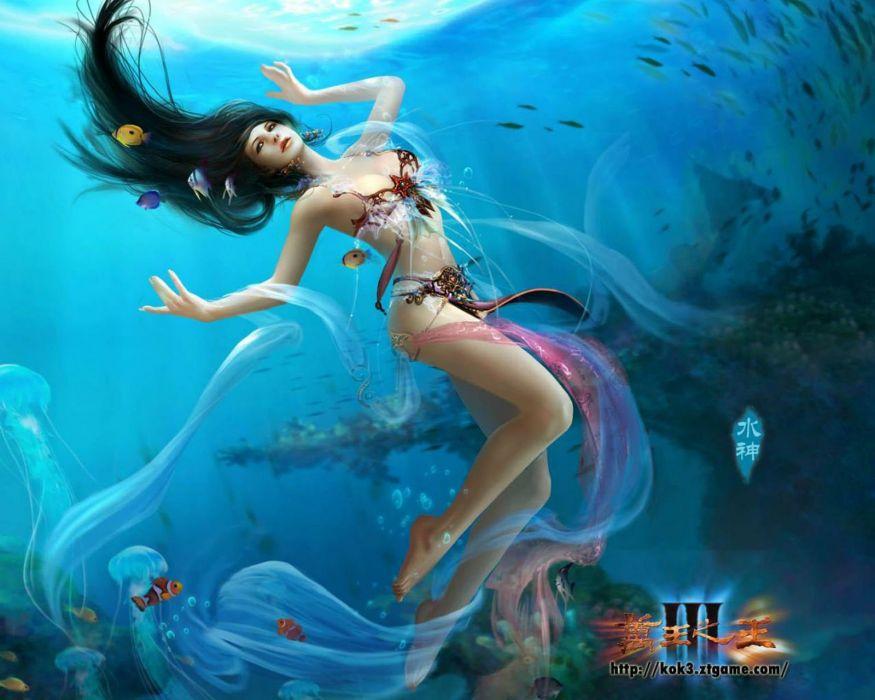 KING Of KINGS 3 fantasy mmo rpg action fighting online 1koks medieval warrior poste mermaid wallpaper